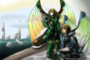 Twin Dragoons~request from dottypurrs by lydiakencana