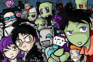 It's getting crowded here by Darqx