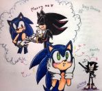 Sonadow Valentines Doodle by Dark0Light