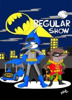Regular Show- Batman Crossover by koude123
