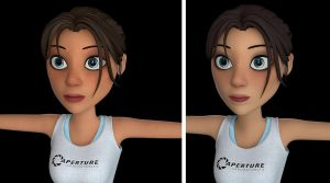 Chell textures by Nha Hoang -- Update by alexzemke