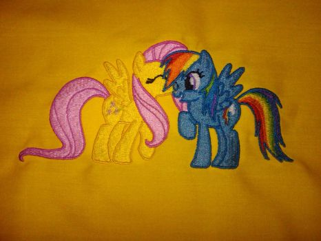 FlutterDash Embroidery by EthePony