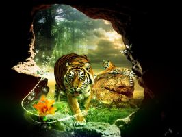 jungle tiger by owdesigns