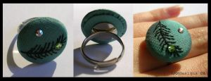 Peacock Ring by MasonBee