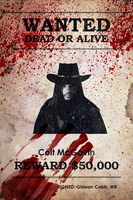 Colt McGavin Wanted Poster w/ Blood Stains by MrAngryDog