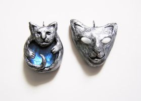 Cat pendants by TrollGirl