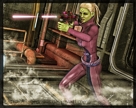 SWTOR: Sniper Agent by maqeurious