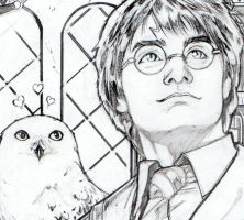Harry Potter pinup - detail by AdrianaMelo