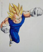 Super Saiyan Vegeta Punch! by Lukitzo