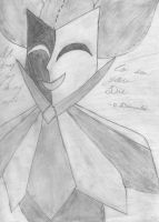 grayscale dimentio by Gamergirl216