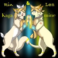 Rin and Len Kagaminekos by Crystalstreak
