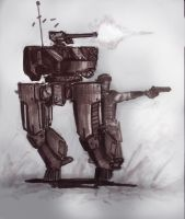 Mecha Sketches by ModalMechanica