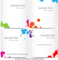 Colorful Ink Splash Banner Free Vector Images by 123freevectors