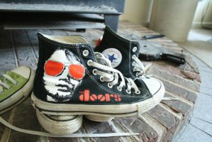 Jim Morrison Converse by immerseyoursoul-x