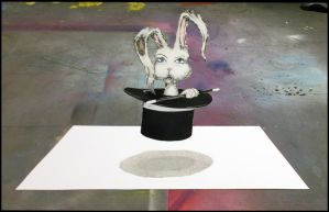 Bunny Boiler Collaboration 3-D forced perspective by kriminalrx