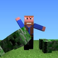 Chuck Norris in Minecraft by Benderxable