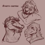15-03-17 Sketch Bust Commissions 5 by GabingGalmot534