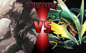 DEATH BATTLE: Bahamut vs Rayquaza by G-Odzilla