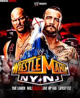 WrestleMania 29 : Stone Cold vs CM Punk by MarcusMarcel