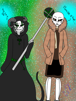 Changling Sans And Cap Sans by Luna-the-Nightblade