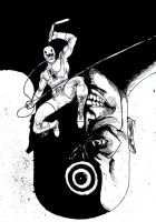 Daredevil/ Bullseye by reptiliandemon