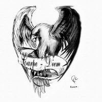 Carpe - Diem Eagle by CANTRELLFLASH