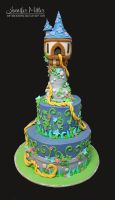 Tangled Cake by ArteDiAmore