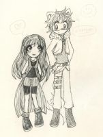 Venus and Siphon as Rinoa and Squall by XDestinyRoseX