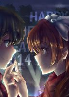 Golden time - HAPPY NEW YEAR 2014 by soompook2122