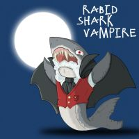 Rabid Shark Vampire by happymonkeyshoes