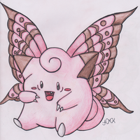 Old Pokemon, New Type 17: Clefairy by Shabou