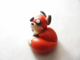 Tiny Polymer Clay Fox by Saru-Hime
