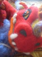 Needle Felted Sleepy Dragon Baby By Cat by CatsFeltLings
