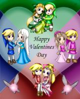 Four Swords Valentines day by Lady-of-Link