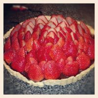 Strawberry tart with chocolate filling 1 by raze36