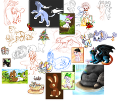 Wips, skeches, small arts by SheriBonBon