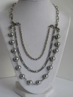 Chandelier Necklace with Light Blue Pearl Beads an by bcainspirations