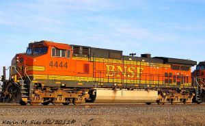 BNSF 4444 leads the BNSF H-MADGAL by EternalFlame1891