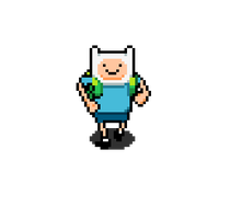 Adventure time RPG: Finn running animation by tebited15