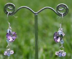 Swarovski Earrings: Violet by Bria-Silivren
