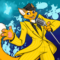 Commission - Swag Cat and the Hep Cats by HellLemur