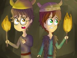 Hiccup And Fishlegs by Thetruffulacupcake