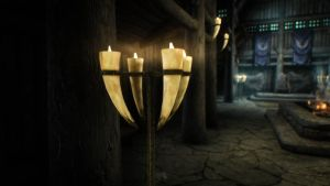 Skyrim: Horn Candles by MangoTangoFox