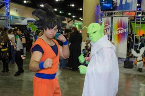 Piccolo and Goku by worldcollider