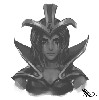 Leblanc Face - League of Legends by Wroppi