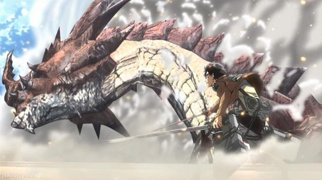 Attack on Titan x Monster Hunter by cyevidal10