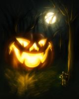 That Pumpkin in the Woods by The-fishy-one