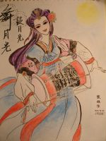 drum playing in moonlight by ninesun