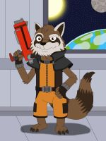 Rocket Raccoon by MCsaurus