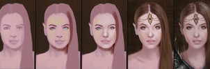 Fantasy Elf Portrait Painting Process by Jay-Carpenter